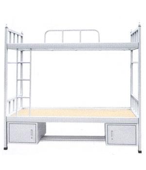 SC07带底柜双层床