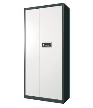BM01电子通体单门深灰套色保密柜