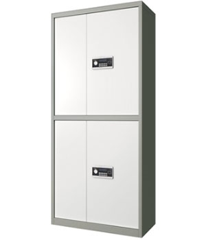 BM03电子通体双门浅灰套色保密柜