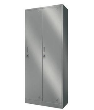 Y10不锈钢两门更衣柜