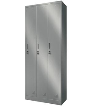 Y11不锈钢三门更衣柜
