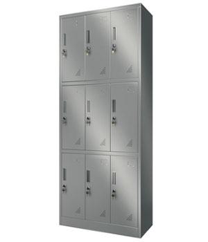Y13不锈钢九门更衣柜